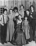 MELISSA SUE ANDERSON AS MARY INGALLS KENDALL, LINWOOD BOOMER AS ADAM KENDALL, DEAN BUTLER AS ALMANZO JAMES WILDER, MELISSA GILBERT AS LAURA ELIZABETH INGALLS WILDER, KAREN GRASSLE AS CAROLINE QUINER HOLBROOK INGALLS, MATTHEW LABORTEAUX AS ALBERT QUINN INGALLS, MICHAEL LANDON AS CHARLES PHILIP INGALLS FROM LITTLE HOUSE ON THE PRAIRIE #1 - Photo cinématographique en noir et blanc- STANDARD - 25x20cm