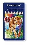 12 Steadtler Noris Colouring Pencils ABS In Lion Motif Tin 145 AM12