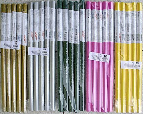 Knorr Prandell Blumenseide Rolle 5Bögen 50x70cm (5 Rollen Sparpack) (gelb)