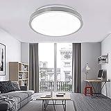 VINGO 16W LED kaltWeiß Badezimmerlampe Wohnraumleuchten Wand-Deckenleuchte Innenleuchte Beleuchtung Ultraslim Küche Büro Schl