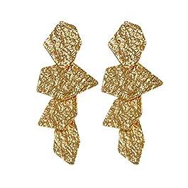 1 paio donne geometriche irregolari ragazza degli orecchini Lega Sparkling Etnica Stud Orecchio Bohemian goccia d'epoca