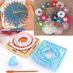 9 agujas de lana para tejer, diseño de margaritas