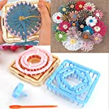 9PCS Flower knitting Loom Knit Daisy pattern Maker filato di lana ago Home Craft Collectsound