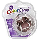 Wilton Football Party Baking Color Cups 36 Pack Candy Cupcake Cake Muffin Liners