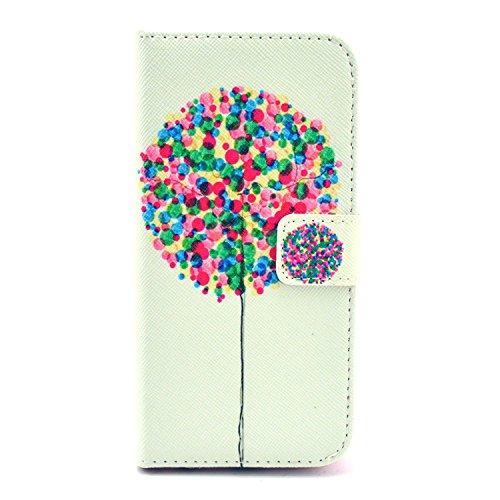 """MOONCASE iPhone 6 Plus Case Motif Conception Coque en Cuir Portefeuille Housse de Protection Étui à rabat Case pour iPhone 6 Plus (5.5"""") P05"""