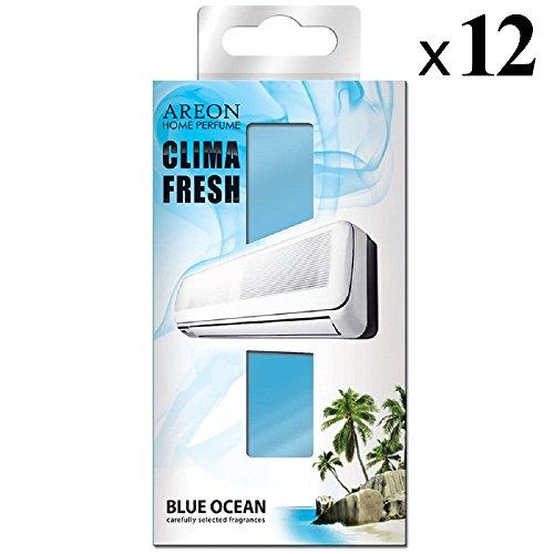 Areon clima deodorante ambiente oceano blu filtri condizionatori profumati casa (blue ocean set di 12)