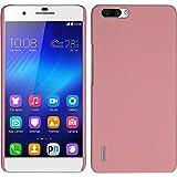 PhoneNatic Case für Huawei Honor 6 Plus Hülle rosa gummiert Hard-case + 2 Schutzfolien