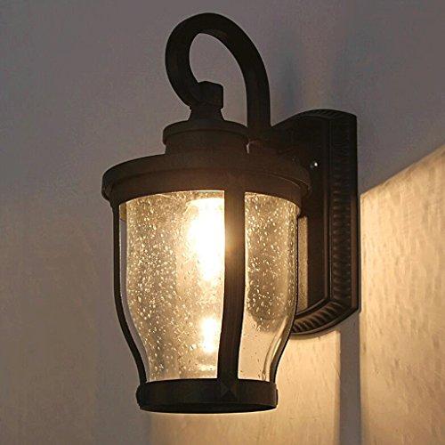 FHK,lampade da parete parete esterna impermeabile luci del giardino all'aperto balcone corridoio antico lampada da parete del bagno minimalista LED industrie creative luci murali decorativi