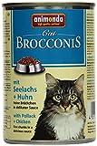 Animonda Brocconis Katzenfutter mit Seelachs + Huhn, 12er Pack (12 x 400 g)
