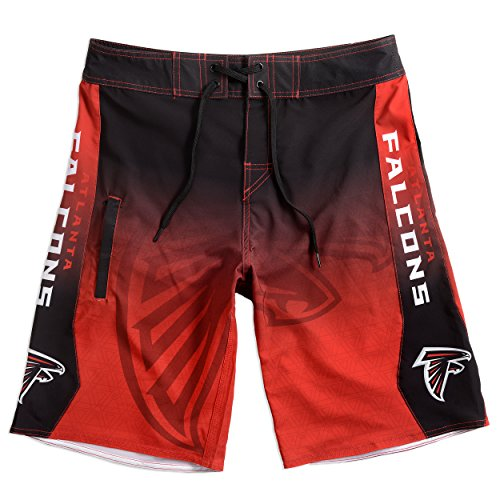 Forever Collectibles klew NFL Atlanta Falcons Farbverlauf Board Shorts, Herren, Atlanta Falcons Gradient Board Short Large 34, Atlanta Falcons, Large
