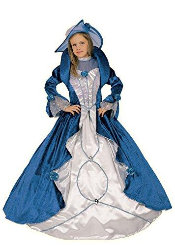 Fiori paolo 26212 - blue velvet lady costume carnevale atelier (9-11 anni)