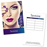 100 Kosmetikstudio – Terminkarten STYLING mit 5 Terminfeldern