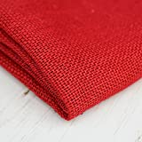 91,44 cm rot Jute weiche Sackleinen Stoff in - Eco-Friendly