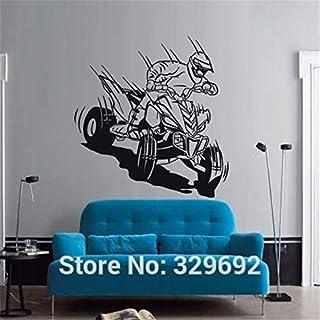 guijiumai Wandtattoo Quad Quad Quadrocycle ATV Rennen Moto Speed   Extrime Kids Play Wandaufkleber Wohnkultur Wandbild 292 rot 45x57cm