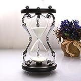 e7f24a5d3d14 Longless Cristal de vidrio de 30 minutos de reloj de arena Decoración  temporizador regalo Decoración