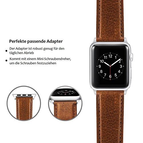 51Z%2B7xEtW0L - [Amazon.de] Benuo Echtes Leder Armband für alle Apple Watches mit 42mm nur 10,79€ statt 17,99€