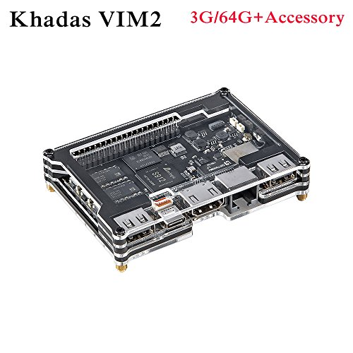 vim2Open Source Octa Core TV Box 3G RAM DDR464GB SBC 2x 2MIMO WiFi Amlogic S912Android/Ubuntu TV Box by khadas, Schiff mit Leistungsstark Zubehör.