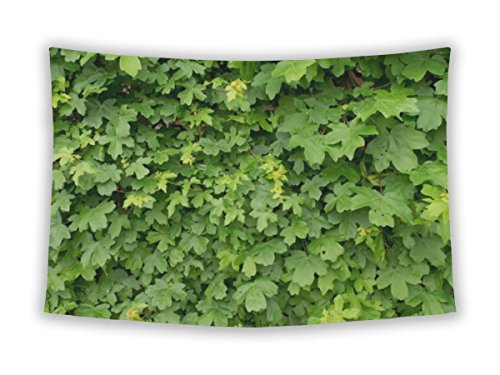 Gear Neue Mauer Stickset für Schlafzimmer Aufhängen College Wohnheim Bohemian, Spring Art Decor Wand Overgrown mit Fresh Green Ivy Blätter Natur Zaun Large, 80 inches wide by 68 inches tall Spring Wall Overgrown With Fresh (Team Farbe Creeper)
