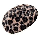 Earbags Fashion Ohrenwärmer Ohrenschützer Mütze Stirnband Warme Ohren Original Strick Fell Leder, Farbe Leopard, Größe S