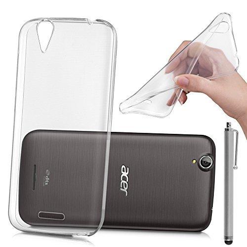 HCN PHONE acer Liquid Z630/Z630S Cover Hülle TPU Silikon- Gel Flexibel Ultradünne für Acer Liquid Z630/Z630S - übersichtlich + Stylus