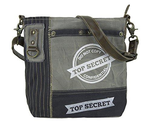 Sunsa Damen Herren große Umhängetasche Schultertasche Crossbody Tasche Canvastasche in retro Style Vintagetasche
