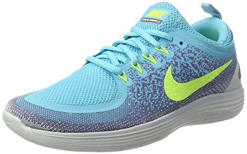 Nike Women's Free Rn Distance 2 Running, Scarpe Sportive Indoor Donna Multicolore (Polarized Blue/volt-iron Purple)