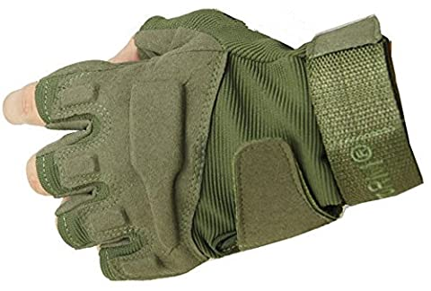 Fingerlose Half-Finger-Rad-Handschuhe für Männer Outdoor-Sport-Handschuhe, grün,L
