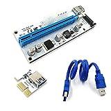 FUERAN 008S PCI-E Express 1X zu 16X USB Riser Adapter Karte Kabel Molex/6pin/-1p USB 3.1Verlängerung SATA Anschluss riser60cm