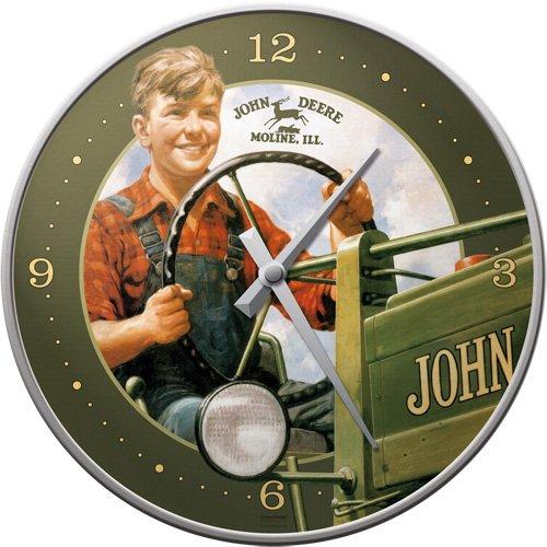Nostalgic-Art 51040 John Deere Boy, Wanduhr, 31 cm