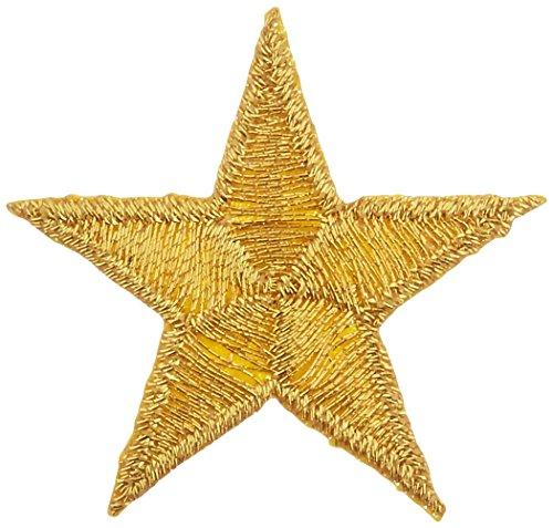 Wrights Iron-On Appliques 3/Pkg-Gold Metallic Stars