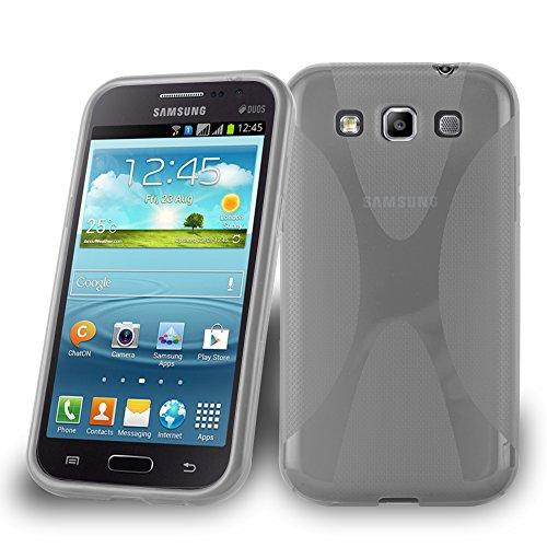 Cadorabo Silikon Hülle für Samsung Galaxy Win in HALB Transparent