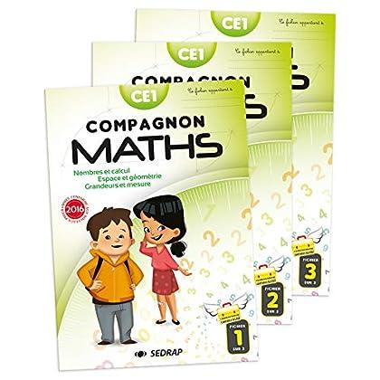 Compagnon Maths CE1 : Nombres et calculs, grandeurs et mesures, espace et géométrie. En 3 volumes