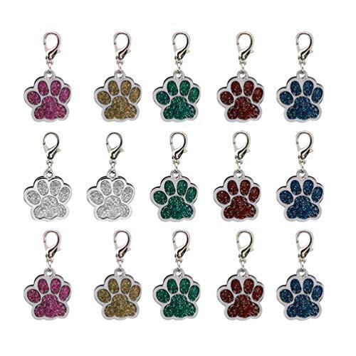 SUPVOX 15 pezzi ciondolo lega ciondolo cane stampe zampa ciondoli perline zampa pendente per bracciale collana fai da te