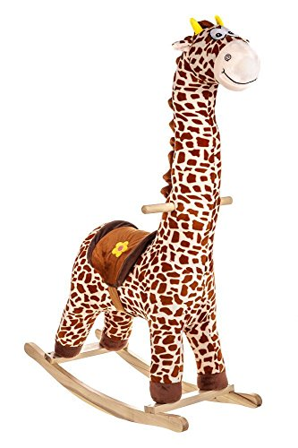 Costello� HQ TEDDY BABY CHILDREN KID SOFT ROCKING ROCKING ANIMAL TODDLER CHAIR SWING CAR INFANT ROCKER TOY ?104CM IN HEIGHT, LARGEST ANIMAL ROCKER ON AMAZON ?FREE NEXT DAY DELIVERY? (GIRAFFE)