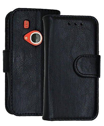 Nokia 33102017Fall Wallet Tasche Cover mit Karte Halter und LCD Displayschutzfolie schwarz PU Leather Wallet Case (Black) PU Leather Wallet Case (Black)