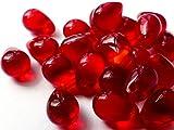 Abalorio, diseño de perla de cristal, color rojo (40unidades) 9mm, C019