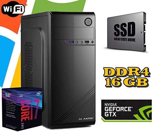PC DESKTOP FISSO Intel i7 8700 / RAM 16GB / SSD 480GB HD 1TB / SCHEDA Video GTX1050 2GB NVIDIA/WI FI/WINDOWS 10 INCLUSO