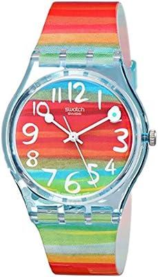 Swatch GENT - Reloj analógico de mujer de cuarzo con correa de plástico multicolor - sumergible a 30 metros