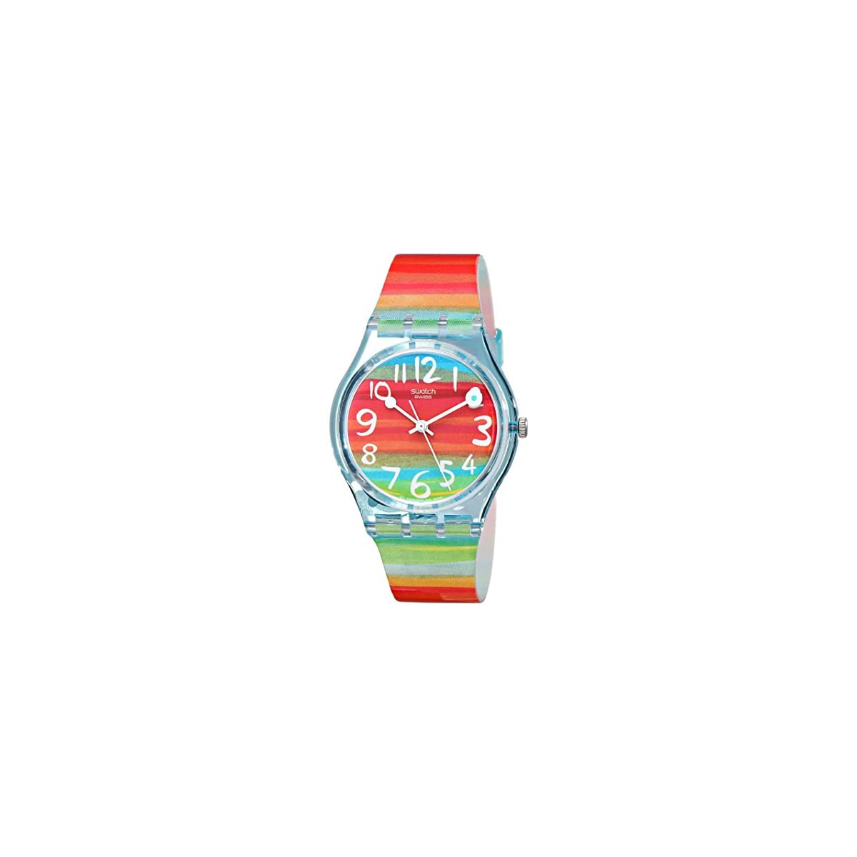 51Z%2BFdvtZiL. SS1200  - Swatch Reloj Analógico de Cuarzo para Mujer con Correa de Plástico - GS 124