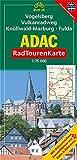 Vogelsberg (Vulkanradweg), Knüllwald-Marburg, Fulda: 1:75000 (ADAC RadTourenKarte)
