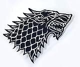 Athena Game of Thrones Haus Stark Direwolf 12,7x 7,6cm bestickt Eisen/Aufnäher Patch Aufnäher
