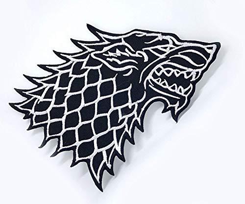 Athena Game of Thrones Haus Stark Direwolf 12,7x 7,6cm bestickt Eisen/Aufnäher Patch Aufnäher (Country Musik Kostüm)