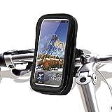 Prom-note Waterproof Bag Impermeable Funda de Soporte 5 Pulgadas para Bicicleta y Motocicleta Soporte Universal con Sensible Pantalla táctil para GPS móvil