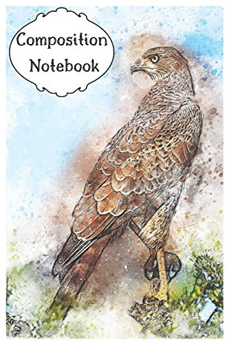 Composition Notebook: Falcon/Eagle Journal for Peregrine Birds Lovers to Writing 120 Pages 6x9 Size (Blue&Brown&Green - Blue Eagle Wings