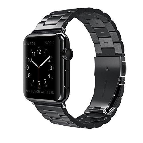 Apple Watch Armband 38mm MLIYA Edelstahl Replacement Wrist Strap Replacement Ersatzband Uhrenarmband f¨¹r Apple Watch - 38mm Schwarz