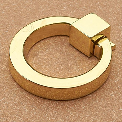 bismarckbeer Schublade Knöpfe, Moderner Schrank Kommode Ring Griff zieht, Zinklegierung, Gold, Einheitsgröße -