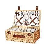 GYFSLG Outdoor Picknickkorb Ablagekorb Einkaufskorb Picknickset Mit 4 Personen Geschirr, Die Beste Wahl Für Picknick Im Freien