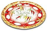 handgemachter Pizzateller Paprika aus italienischer Keramik