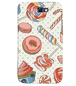 GADGET LOOKS PRINTED BACK COVER FOR SAMSUNG GALAXY NOTE 2 MULTICOLOUR