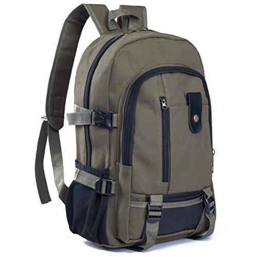 Elecenty Segeltuch Rucksackhandtaschen Damen, Frauen Reisetasche Sport Rucksack Backpack Schulrucksack Bag Handtasche Tasche Taschen Damentasche Henkeltaschen Wanderrucksack (43cm, Armeegrün)